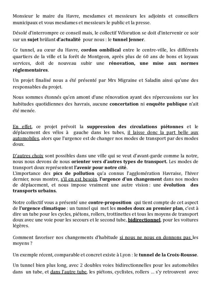 discours page 1 en image